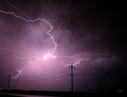Electrical Storm over Power Lines